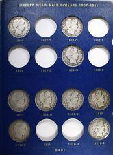 1907-1915 BARBER HALF DOLLAR SET - 13 DIFF CIRC COINS Lot 233