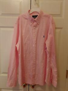 Men-Ralph-Lauren-Polo-Pink-Gingham-Slim-Fit-Button-Down-Shirt-Size-17-5-36-37