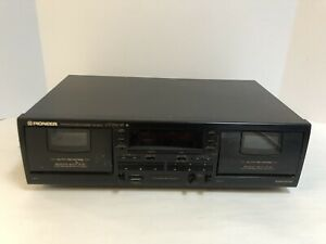 Pioneer-Double-Cassette-Deck-CT-W404R-Auto-Reverse-High-speed-Copy-TESTED