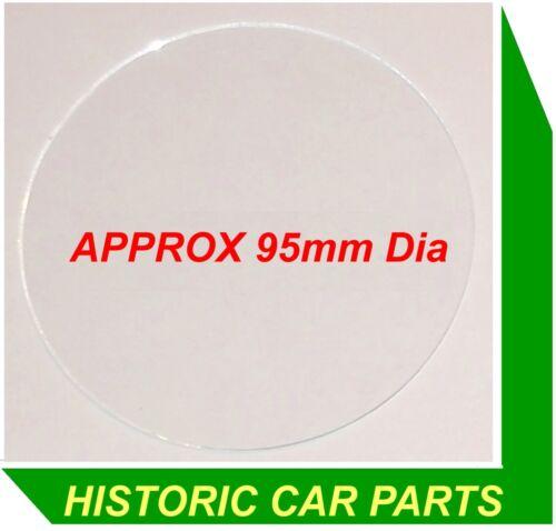 """MGA 1600 Mk1 Mk2 /& De-luxe 1959-62 ~ Smiths 4/"""" Speedo Rev Counter Glass 100mm"""