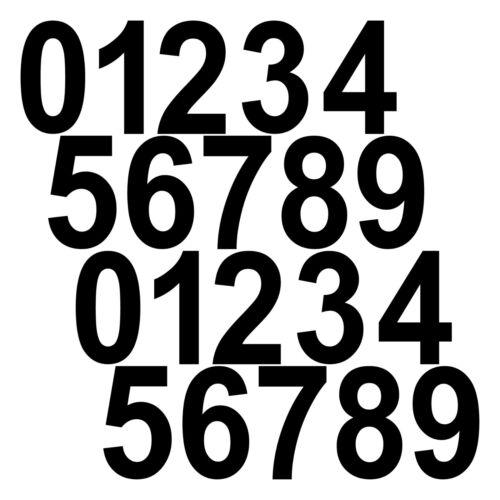 20 Autocollant Tatouage 8 cm noir Nombre Chambre Maison Porte Casier numéro de départ le paragraphe