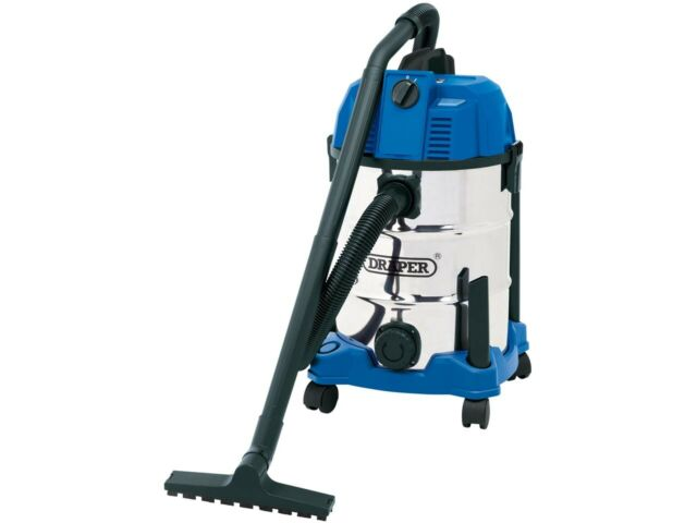 30L Wet And Dry Vacuum Cleaner With Stainless Steel Tank (1600W) Draper 20523