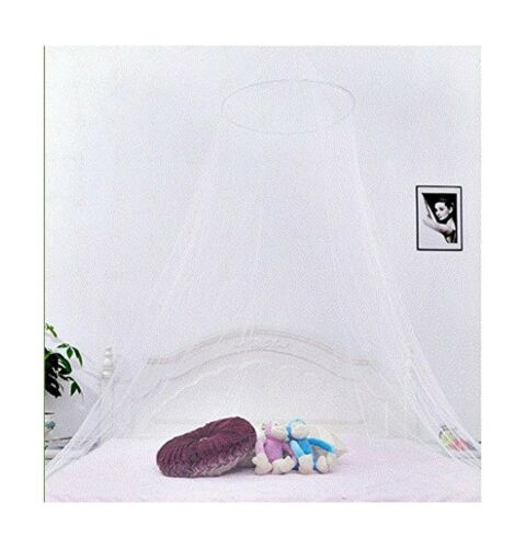 1 White QMET Jumbo Mosquito Net for Bed Queen Size