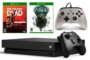 Microsoft Xbox One X 1TB Full Kit & Bundle - 2 Games + Bonus Wired Controller
