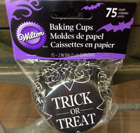Wilton Halloween trick Or Treat Cupcake Liners 75 Count - Lot 4 Pks 300 Liners