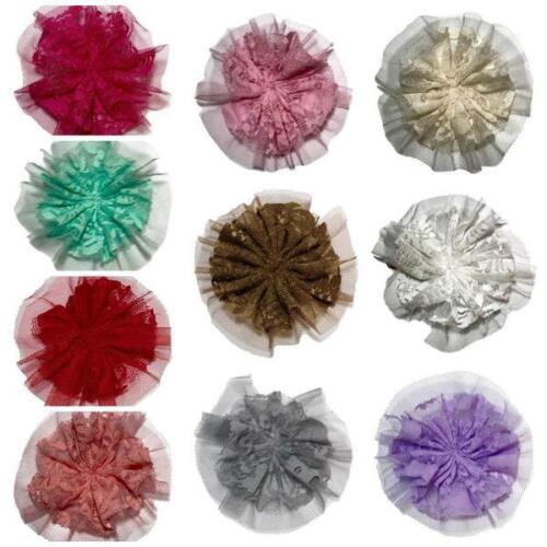 "10 pieces GRAB BAG 4/"" lace tulle mesh ballerina flower"