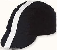 Pace Black w/ White Ribbon Fixed Gear Track Classic Cycling Cap Hat Bike Koolfit