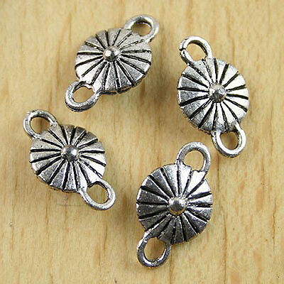 20pcs Tibetan silver flower spacer beads H0097