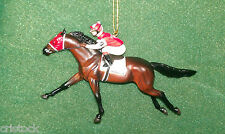 BREYER RACE HORSE CHRISTMAS ORNAMENT - SEABISCUIT --- KENTUCKY DERBY- NIB