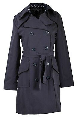 COLLECTION LONDON Womens Ladies Black Navy Red Smart Business Spring Mac Coat