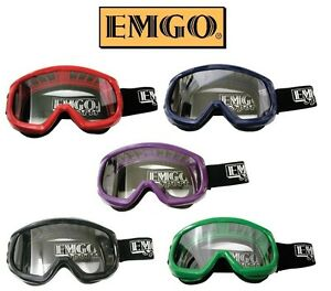 Emgo Youth Kids Goggles Motocross Dirtbike Girls Boys BMX MX ATV UTV Passenger
