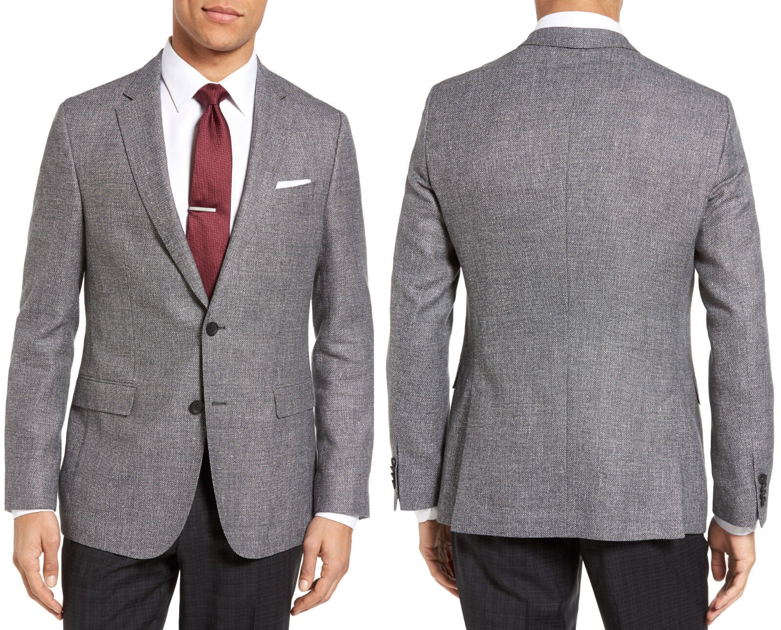 NWT HUGO (Hugo Boss ROT Label) Slim Fit 2-Button Wool-Blend Sport Coat