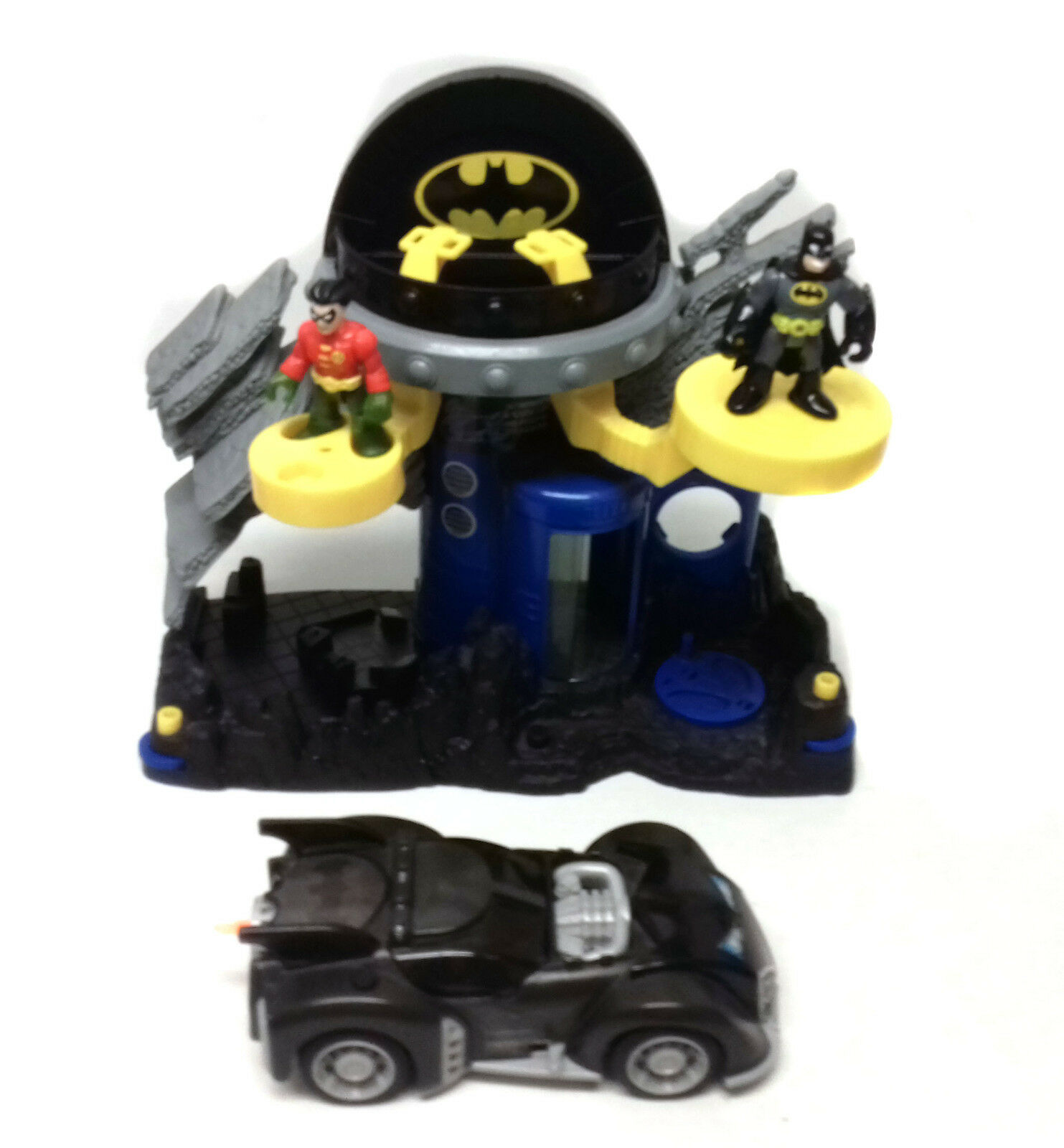 Fisher Price toys IMAGINEXT BATMAN Medium Größe BATCAVE figures & Car set