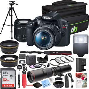 Canon-T7-EOS-Rebel-DSLR-Camera-EF-S-18-55mm-IS-II-500mm-Telephoto-Lens-Pro-Kit