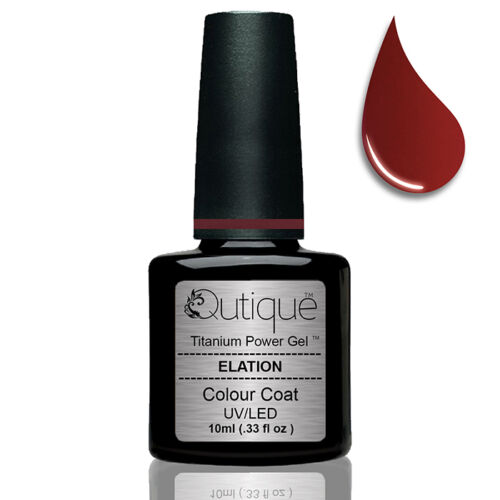 Qutique ELATION Soak Off Gel Nail Polish Colour Deep Hollywood Red
