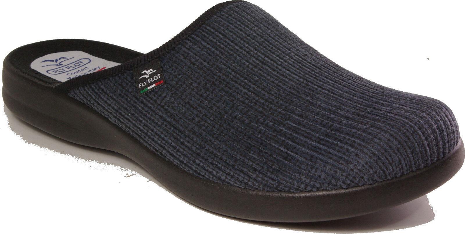 FLYFLOT Hausschuhe Pantoffeln Cord Textil blau  NEU NEU   Latschen 1e964d
