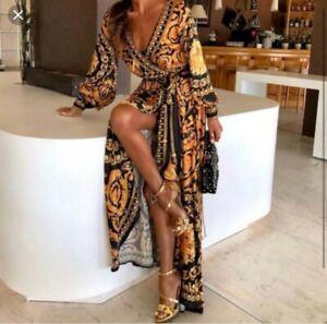 100% autentico a8e27 479f4 Dettagli su Vestito donna modello Versace