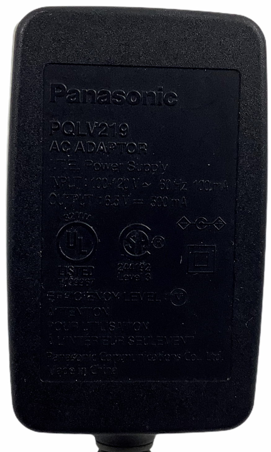 Genuine Panasonic AC Power Supply Adapter - PQLV219 Output: 6.5V 500mA