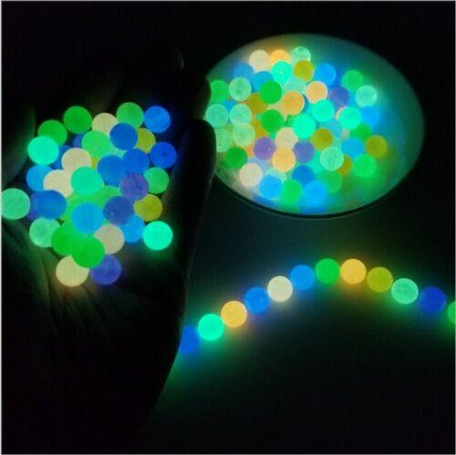 New 6-8-10-12mm Glow In The Dark Fishing Loose Beads For Woman Men Luminous Lock