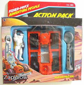 ALPHA-RECON-MOON-BUGGY-1982-Fisher-Price-360-Adventure-People-Vintage-Space-Toy