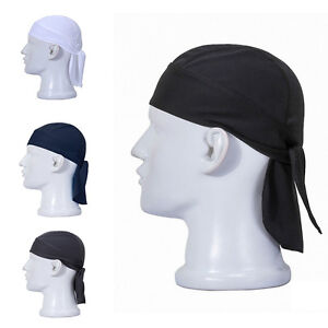 New Fashion Men Solid Cotton Biker Lined SKULL CAP Motorcycle ... 911a862ee65