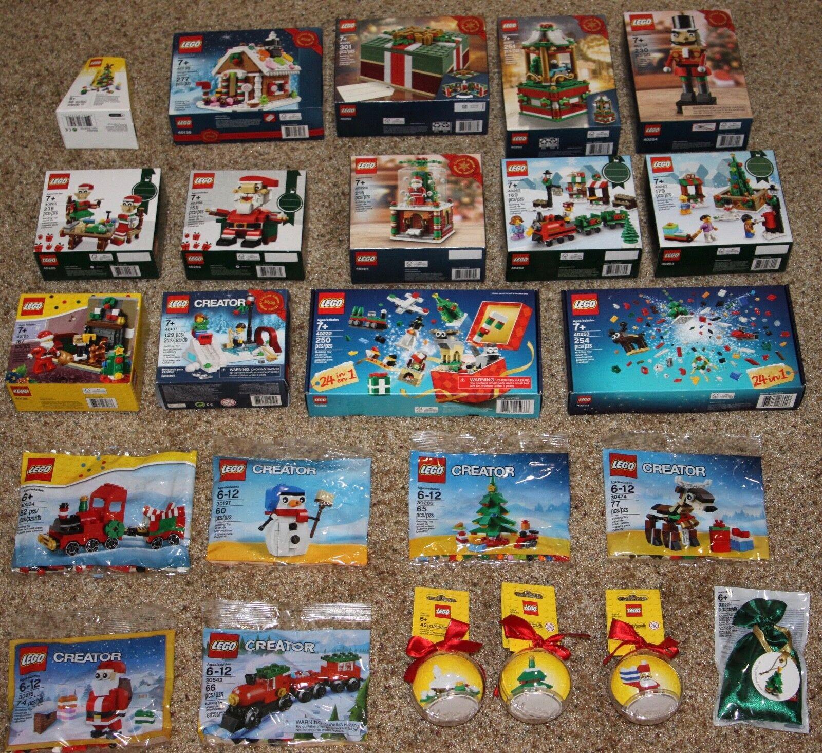 Lego Lote de conjunto de Navidad 40139 40254 40292 40293 40223 40 40222 40253 40034