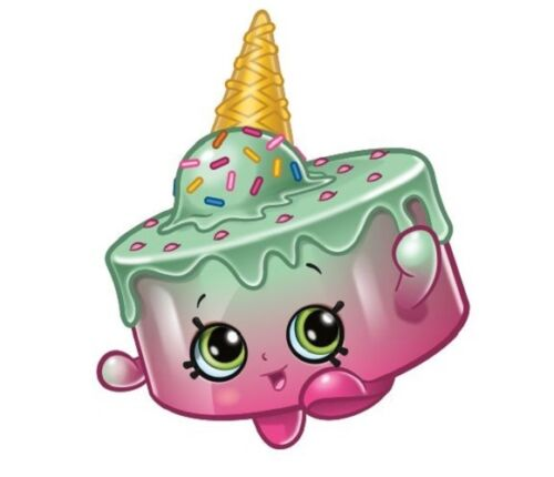 """CUT EASY TO USE 13 x 3/""""  SHOPKINS PRINTED CUPCAKE EDIBLE TOPPERS STAND UP PRE"""