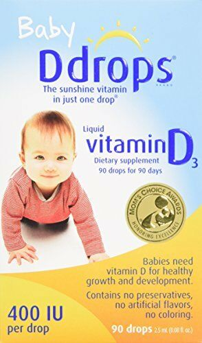 2 Paquet Bébé Ddrops Liquide Vitamine D3 400 Ui Régime Supplément 90 2.5Ml EA