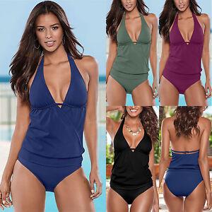 0e4105a9c5f Women s Swimming Costume Padded Swimwear Push Up Pool Beach Bikini ...