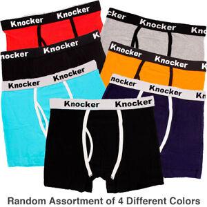 4-Mens-Stretch-Cotton-Color-Boxer-Briefs-Underwear-Trunk-Shorts-Lot-S-M-L-XL-XXL