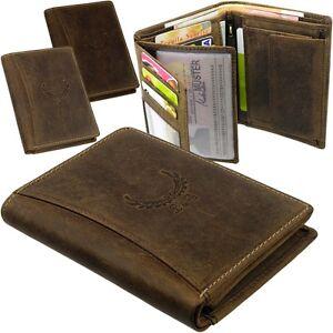 L-amp-B-Herren-Portemonnaie-Leder-Geldtasche-Hoch-Geldboerse-Geldbeutel-Brieftasche