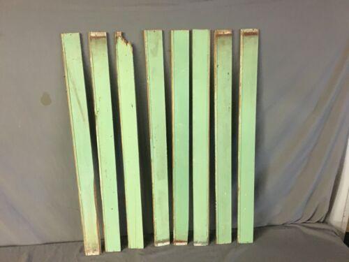 50 Linear Feet Medium Green Antique Wainscot Shabby Vtg Wood Chic Crafts  74-19J