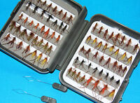72 X Hoppers In A Legend Threader Fly Box Including 2 Threaders