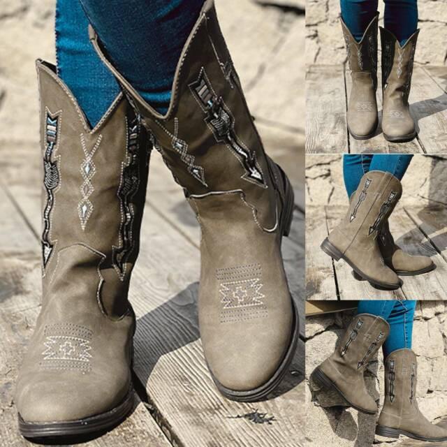 SheSole Womens Western Cowboy Boots