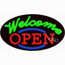 New Open Welcome 30x17 Oval Real Neon Business Sign Withcustom Options 14466