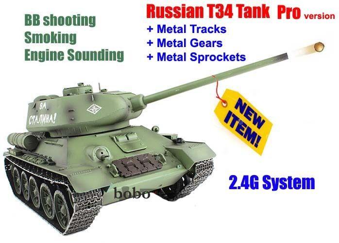Radio remote control Heng Long rc tank 1 16  Russian T34 Battle 2.4G Tank UK