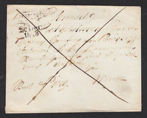 Austria-1848-Stampless-Cover-TRENCHIN-WIEN-wax-seal
