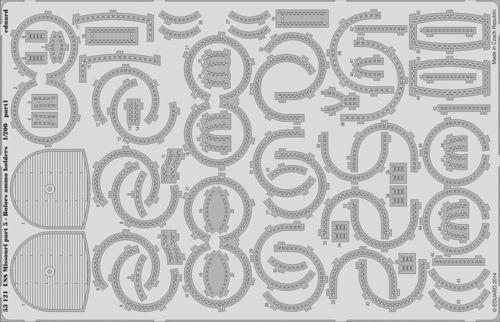 EDUARD 1 200 Bofors AMMO contenitori U.S.S.MISSOURI pezzo. pezzo. pezzo. 5  53121 e9e590