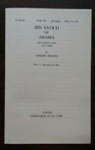 1928-Book-Prospectus-Leaf-Ibn-Sa-039-oud-of-Arabia-Ameen-Rihani