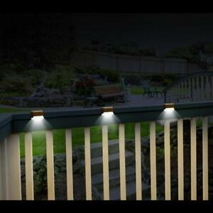 Led solar powered deck railing steps lights 12 volts brown 2 lumen led solar powered deck railing steps lights 12 volts brown 2 lumen light aloadofball Images