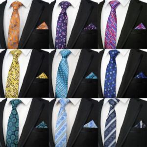 2018 Men S Tie Set 8cm Floral Striped Silk Necktie Neck Ties Pocket