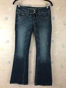 American-Eagle-Artist-Bootcut-Womens-Jeans-0-Reg-28x29-Low-Rise-Stretch-Denim