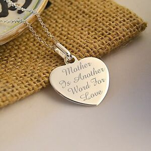PERSONALISED-STERLING-SILVER-925-HEART-CHARM-PENDANT-amp-NECKLACE-ENGRAVED