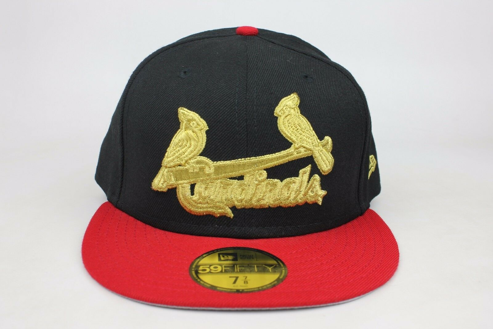 St. Louis Cardinals Black / Red Lid / Gold Logo Hat New Era 59Fifty Fitted Hat Logo EB 8361a5