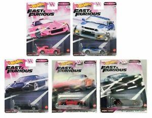 2020-Hot-Wheels-Rapido-Y-Furioso-rapida-Shifters-Conjunto-de-5-automoviles-1-64-Diecast