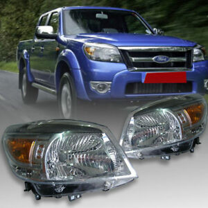 Details About Clear Lens Front Lamp Headlights Pair Fits For Ford Ranger T5 Pk Ute 2009 11