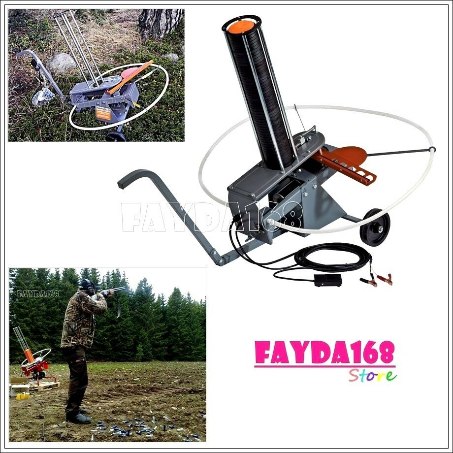 Auto Feed Trap Wheels Clay Target Thrower Skeet Pigeon