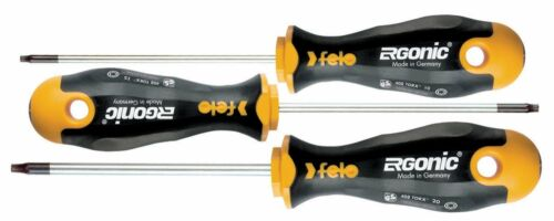 Set of 3 Felo 0715753171 Ergonic Torx Screwdrivers