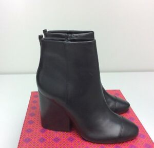 b2f793d5ba2e TORY BURCH Grove 100MM Bootie Boots size 10.5 Black Leather Ankle ...