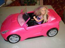 Conversível Rosa Barbie Glam Brinquedo Carro Boneca 2 Mattel Hot assentos brilho Meninas do veículo